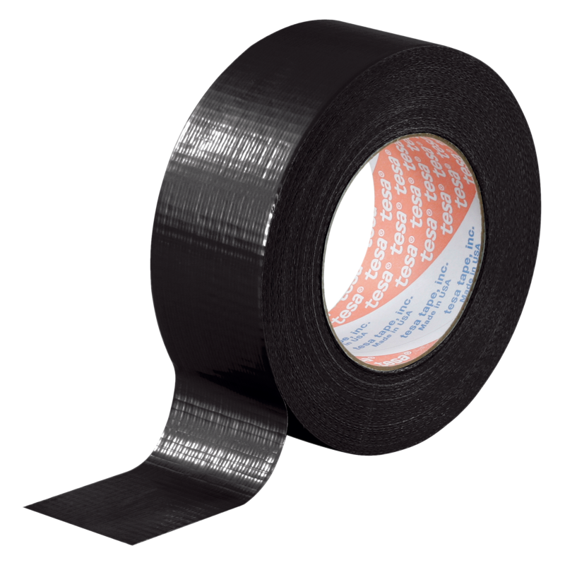 Tesa 4662 Duct Tape 48 Mm X 50 Metres Black Te4662bk