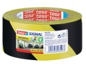 TESA 58133 Hazard Tape 50mm 66mt, Yellow/Black stripes, Warning