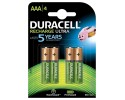 DURACELL Recharge Ultra Battery, size AAA, 900mAh, pack of 4