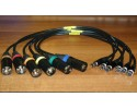 Microphone cables with TA3 or TA5