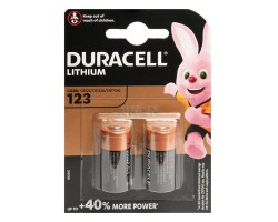 DURACELL ULTRA 123 Photo Lithium Battery 3 Volt, 2pcs