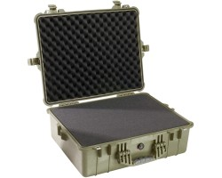 PELI Protector Case 1600, internal dimensions 54.4 x 41.9 x 20.0  cm