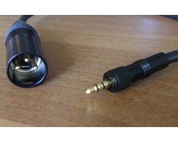 NAGRIT CL 100 Output cable for Ew, from mini-jack stereo locking to XLR-3