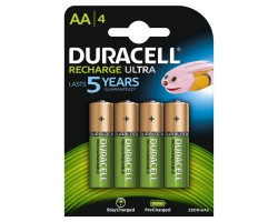 Duracell Recharge ULTRA, AA Battery NiMH 2500mAh, 4-pack
