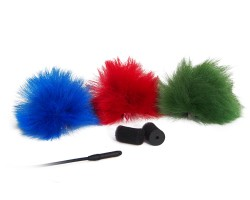 Rycote 3-color Furry Lavalier Windjammer, pair