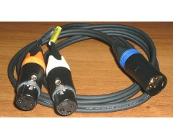 NAGRIT Y cable, from XLR 5M to 2 x XLR 3F